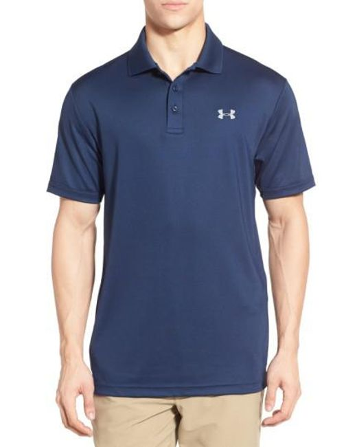 Under Armour | Blue Short-Sleeve Polo Shirt for Men | Lyst