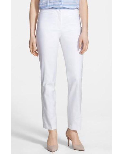 NIC+ZOE   White The Perfect Ankle Pants   Lyst