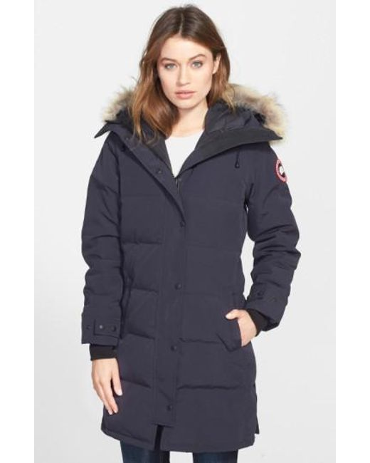Canada Goose - Blue Shelburne Genuine Coyote Fur Trim Down Parka - Lyst