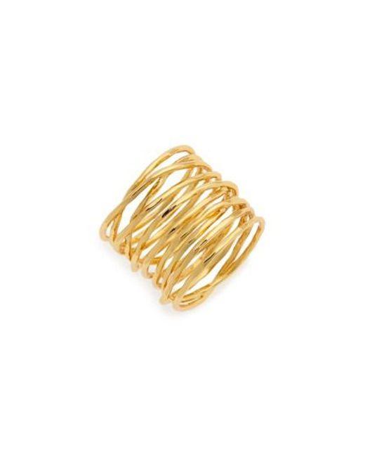 Gorjana | Yellow 'lola' Coil Ring | Lyst
