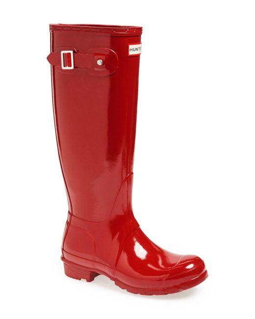 Hunter - Brown Original High Gloss Rain Boots - Lyst