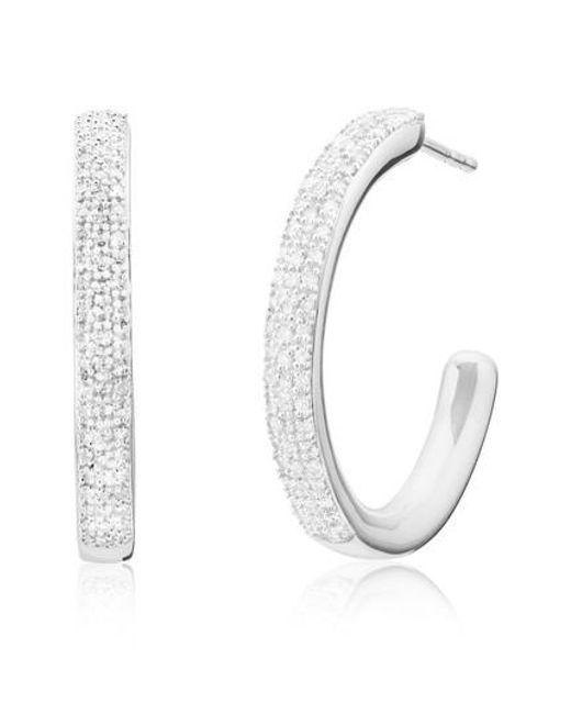 Rose Fidji Or Grand Cerceau Boucles D'oreilles En Diamant Diamant Monica Vinader PZJVPqG9