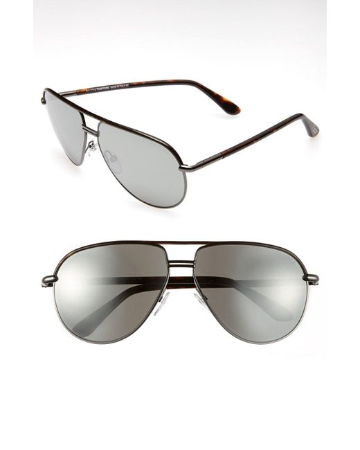 3a20a8661b51 Tom Ford - Gray Cole 61mm Sunglasses - Gunmetal  Dark Havanna for Men - Lyst