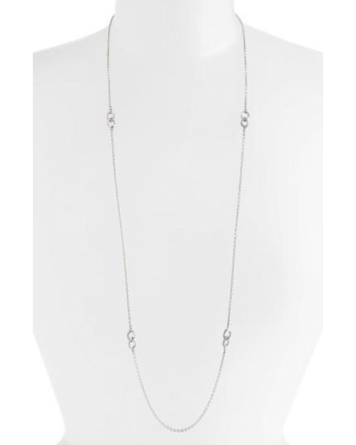 Lagos | Metallic 'soiree' Long Station Necklace | Lyst