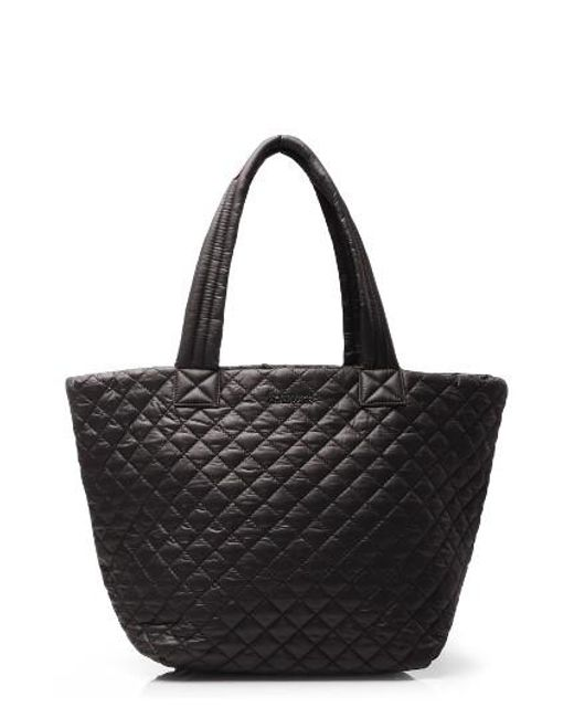 MZ Wallace | Black 'medium Metro' Quilted Oxford Nylon Tote | Lyst
