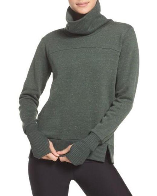 Alo Yoga | Green 'haze' Funnel Neck Sweatshirt for Men | Lyst