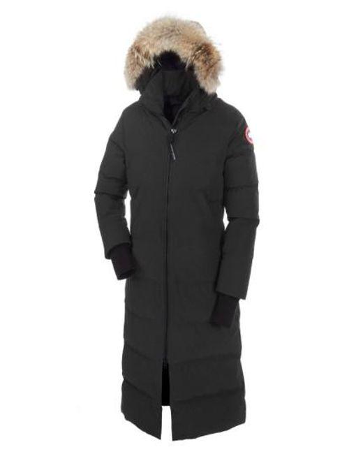 Canada Goose | Black 'mystique' Regular Fit Down Parka With Genuine Coyote Fur Trim | Lyst