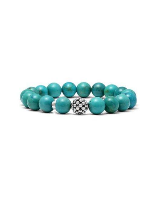 Lagos | Blue Bead Stretch Bracelet | Lyst