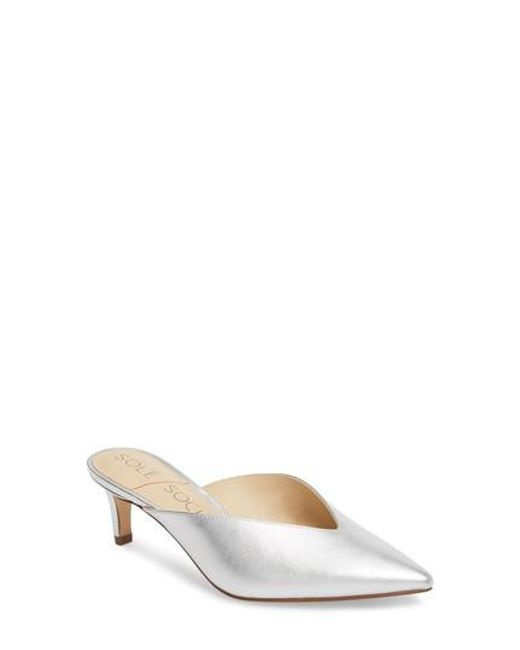 Sole Society - Multicolor Maleah Pointy Toe Mule - Lyst