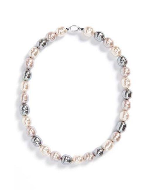Majorica | Gray 14mm Baroque Pearl Necklace | Lyst