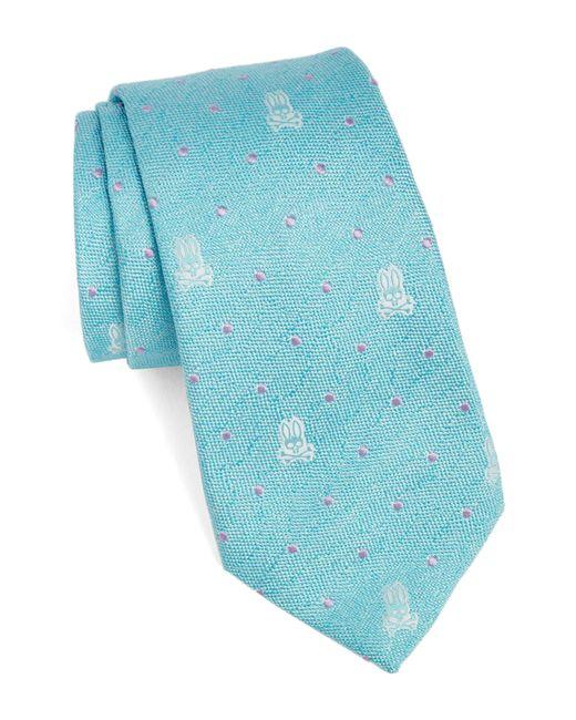 Psycho Bunny - Blue Bunny Dot Silk Tie for Men - Lyst