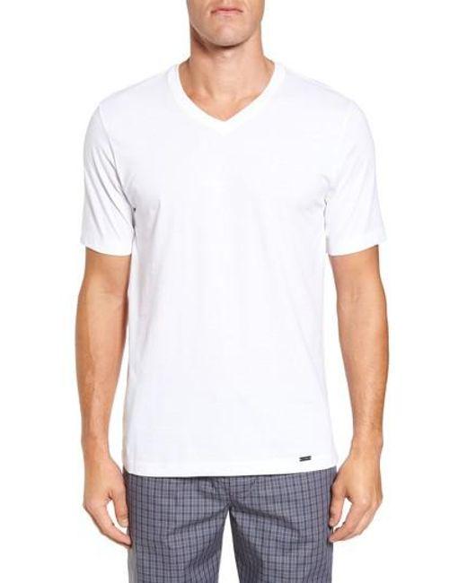 Hanro | White Living V-neck T-shirt for Men | Lyst