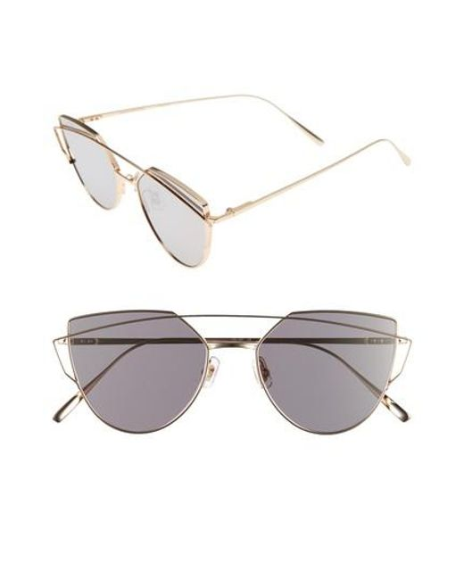 Gentle Monster | Metallic Love Punch 55mm Titanium Aviator Sunglasses | Lyst