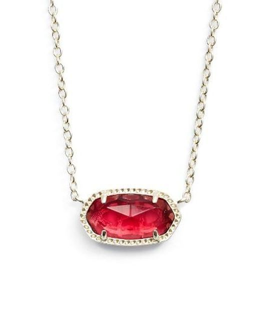 Kendra Scott | Red Elisa Birthstone Pendant Necklace | Lyst