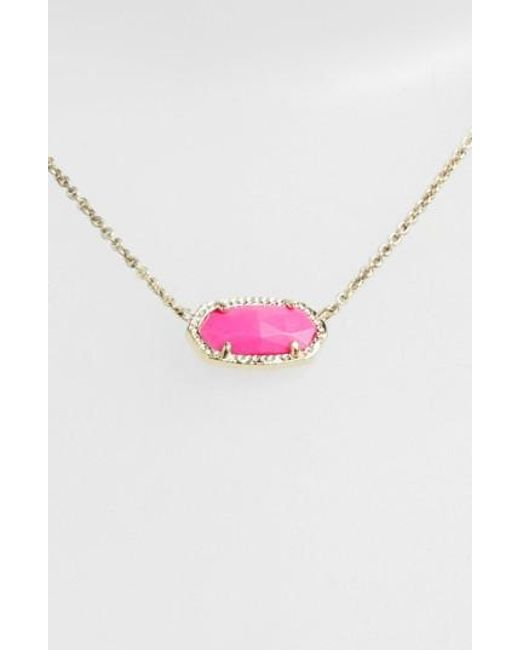 Kendra Scott | Purple 'elisa' Pendant Necklace | Lyst