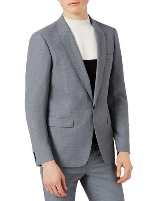 Topman Skinny Fit Crosshatch Suit Jacket Latest Cheap Online Clearance Factory Outlet 5bZXURup9a