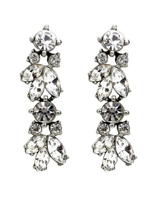 Ben-Amun - Metallic 'crystal Vine' Drop Earrings - Lyst