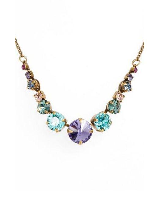 Sorrelli - Blue Crystal Collar Necklace - Lyst