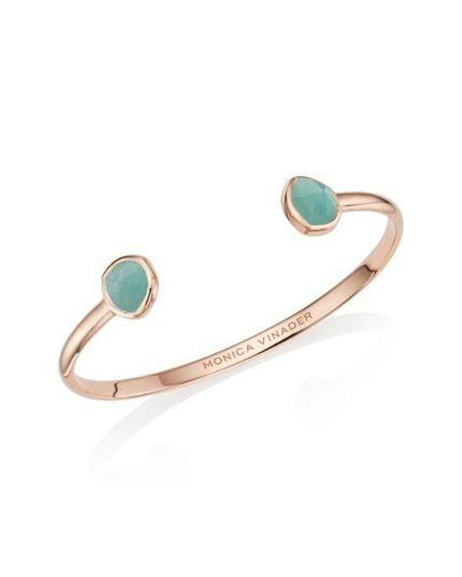 Sunshine Clearance For Sale Rose Gold Siren Thin Cuff Grey Agate Monica Vinader uWOSrGo