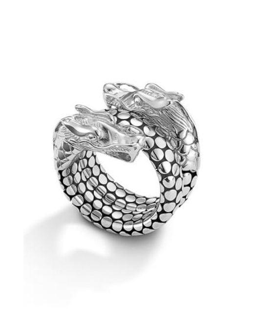 John Hardy | Metallic 'legends' Dragon Coil Ring | Lyst