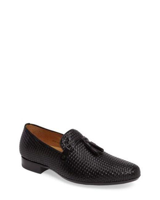 Mezlan | Black Turning Woven Tassel Loafer for Men | Lyst