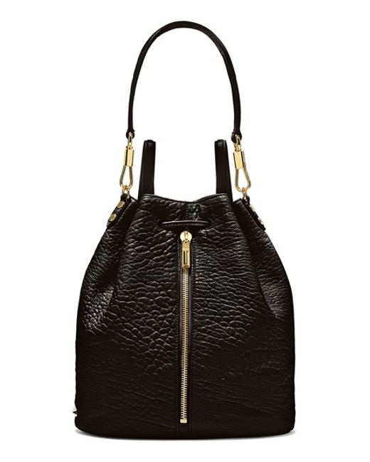Elizabeth and James | Black 'cynnie' Leather Sling Backpack | Lyst
