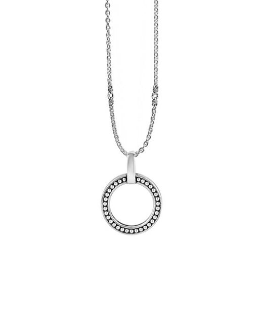 Lagos | Metallic 'enso' Caviar Pendant Necklace | Lyst