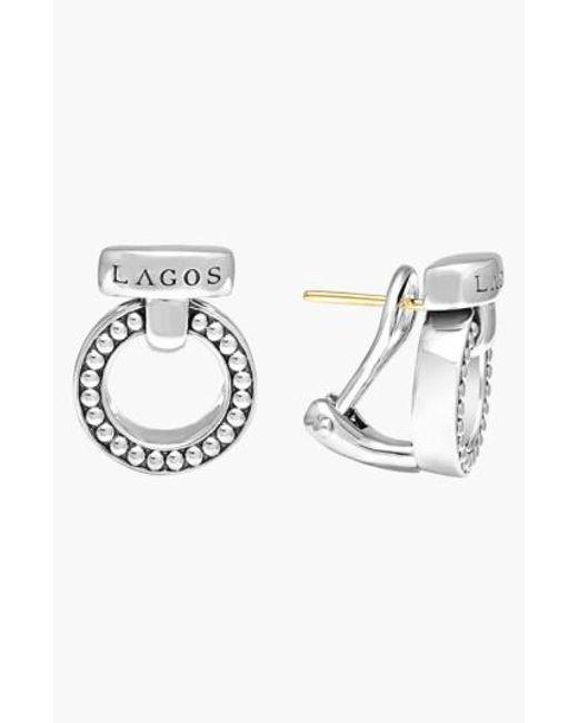 Lagos | Metallic 'enso' Caviar(tm) Clip Earrings | Lyst