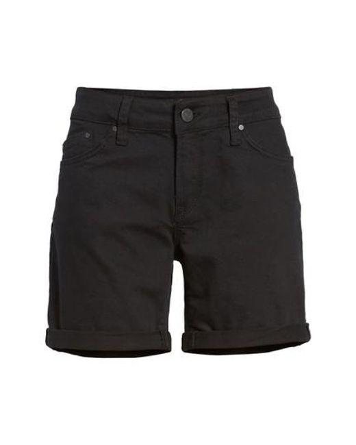 Mavi Jeans - Black Mavi Pixie Roll Cuff Denim Shorts - Lyst