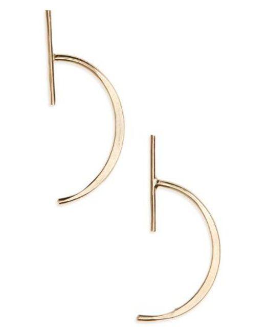 Melissa Joy Manning | Metallic Bar Threader Stud Earrings | Lyst