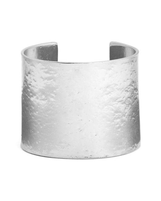 Karine Sultan - Metallic Hammered Cuff - Lyst