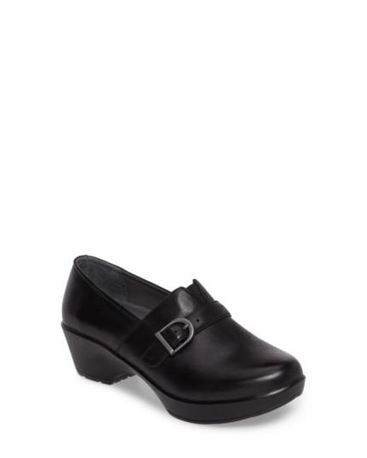 Dansko | Black Jane Platform Loafer | Lyst