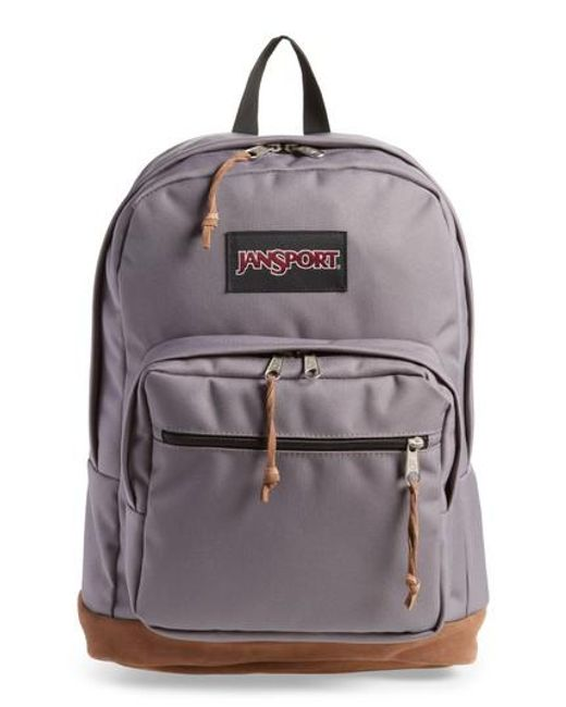 c1ccb16a2f Jansport Right Pack Backpack In Grey Lyst