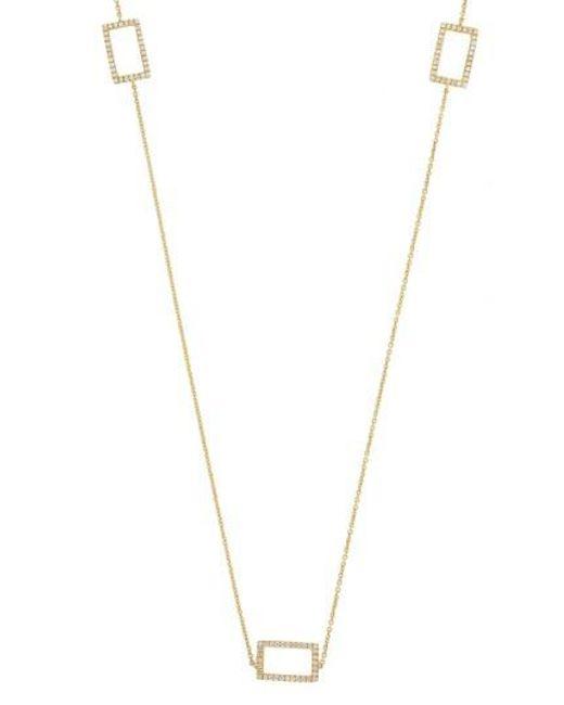 Bony Levy - Metallic Three Rectangle Diamond Station Necklace (nordstrom Exclusive) - Lyst