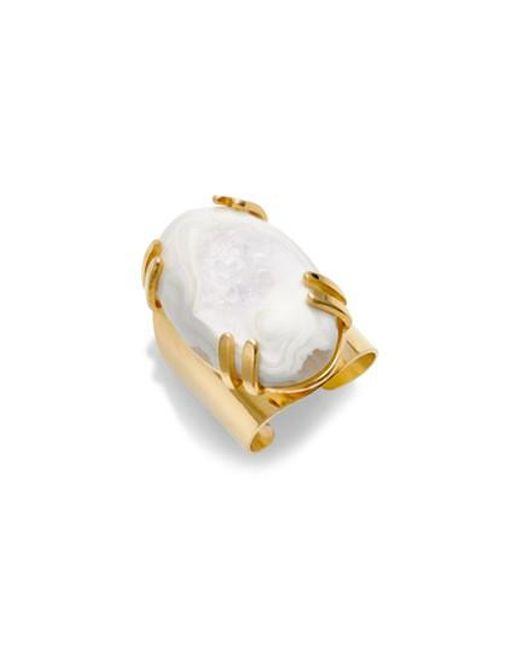 Nakamol | Metallic Drusy Agate Adjustable Ring | Lyst