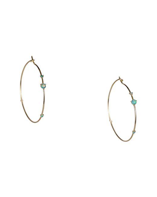 Wwake - Metallic Four-step Opal & Diamond Hoop Earrings - Lyst