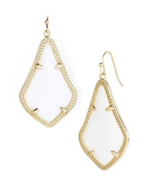 Kendra Scott | White Alex Drop Earrings | Lyst