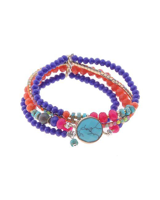 Nakamol - Blue Nakamol Stretchy Beaded Bracelet - Lyst