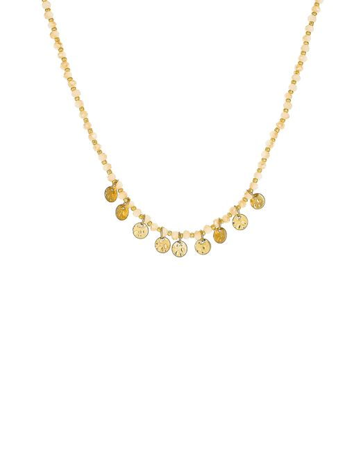 Panacea - Metallic Beaded Circle Charm Necklace - Lyst