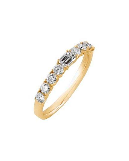 Bony Levy - Metallic 'liora' Stackable Emerald Cut Diamond Ring - Lyst