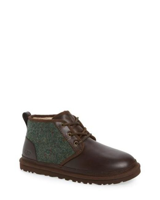 Ugg   Brown Ugg Neumel Wool & Leather Chukka Boot for Men   Lyst