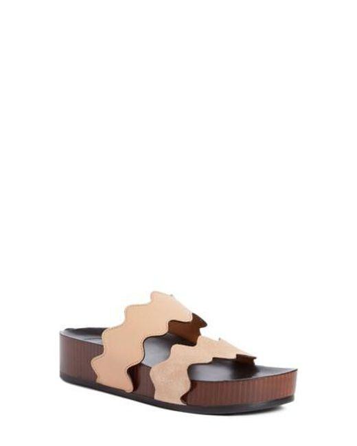 Chloé - Pink Lauren Platform Sandal - Lyst