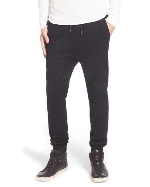 Zanerobe - Black 'sureshot' Slim Tapered Leg Jogger Chinos for Men - Lyst