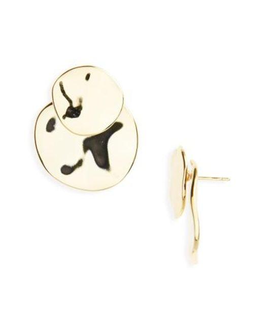 Gorjana | Metallic Chloe Drop Back Earrings | Lyst