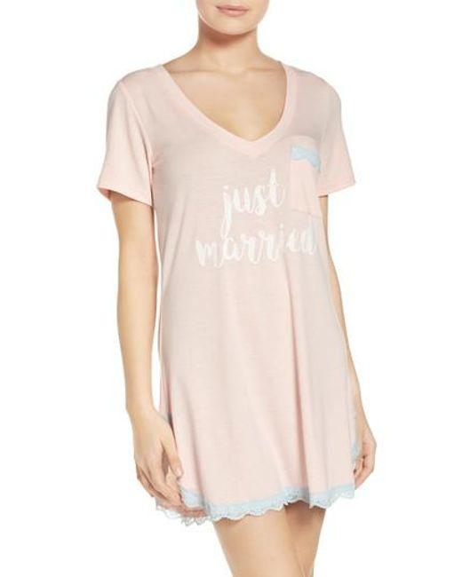 Honeydew Intimates | Pink 'all American' Sleep Shirt | Lyst