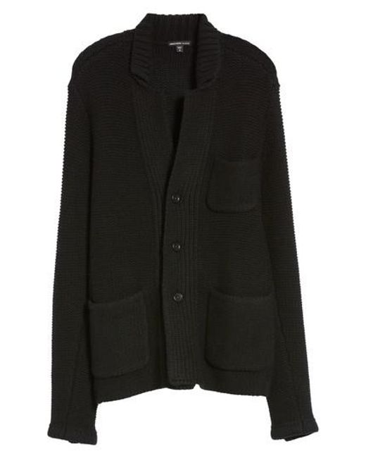 James perse Chunky Knit Cashmere Cardigan in Black for Men | Lyst