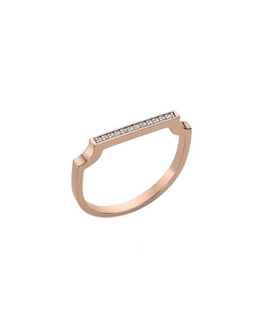 Monica Vinader - Metallic Signature Thin Diamond Ring - Lyst