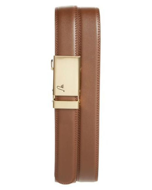 Mission Belt - Brown 'twentyfour' Leather Belt for Men - Lyst