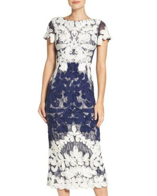 Js Collections Soutache Lace Midi Dress In Blue Save 41