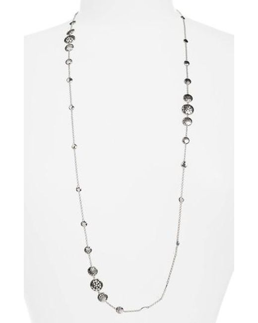 John Hardy - Metallic Dot Hammered Silver Necklace - Lyst